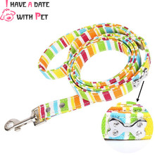 free shipping S#1.5*120cm,M#2.0*120cm,L#2.5*120cm colors canvas cloth material rhinestone bone decoration dog leashes pet leads