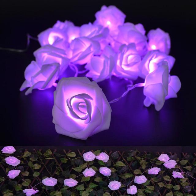 20 LED 9 Colors Rose Lighting String