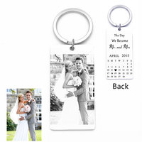 Wedding Anniversary Gift Tin Anniversary Couple Bride Groom Gift Calendar Key Chain Set 10th Wedding Photo