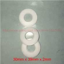 30x39x2mm white ptfe ring gasket washer