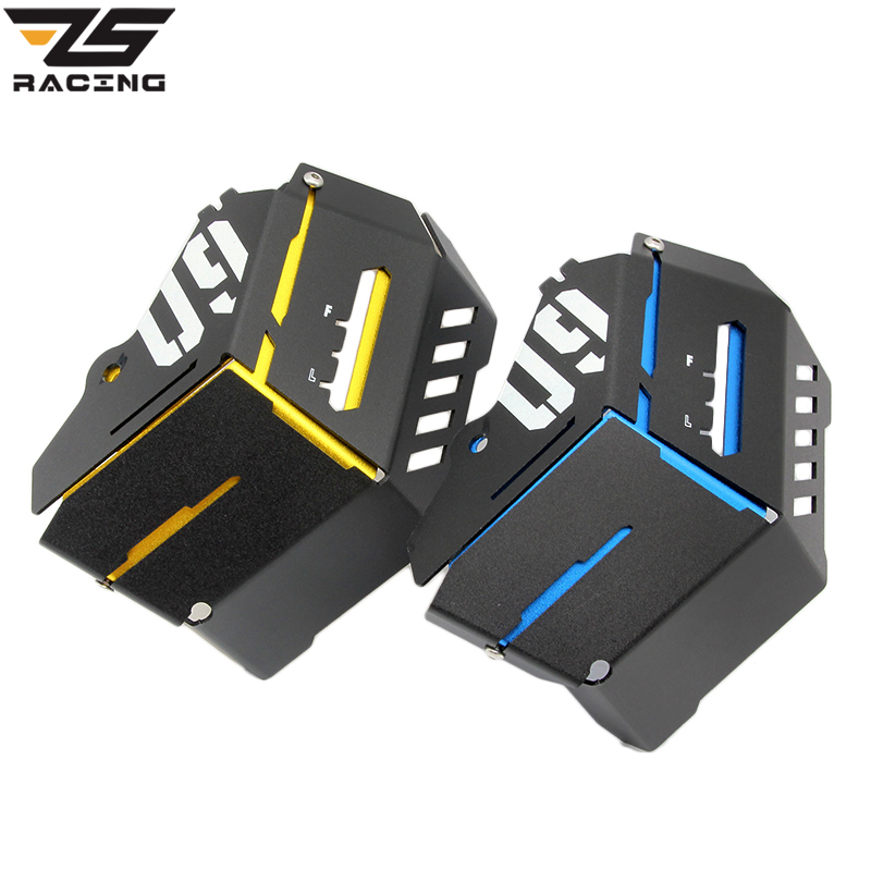 ZS Racing CNC Aluminum Coolant Recovery Tank Shielding Cover Case For Yamaha MT-09 FZ-09 MT FZ 09 MT09 FZ09 2014 2015 for yamaha mt 07 mt 07 fz07 mt07 2014 2015 2016 accessories coolant recovery tank shielding cover high quality cnc aluminum