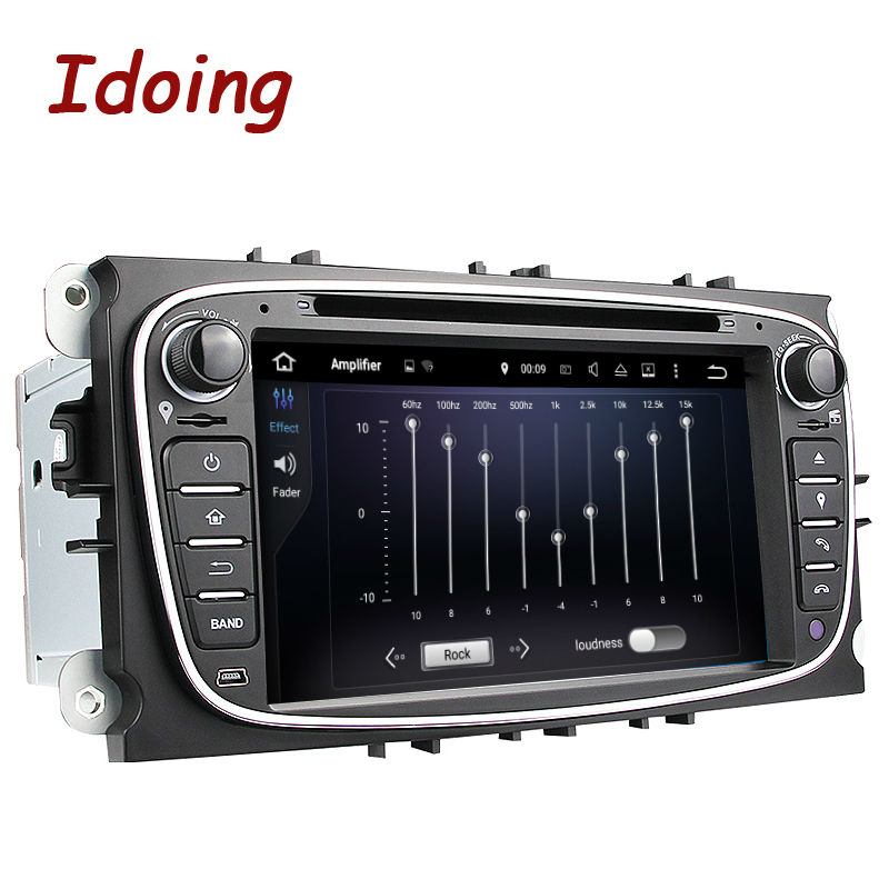 Idoing Steering-Wheel 2Din For Ford Focus Mondeo s-max Android 7.1 Car DVD Multimedia Video Player Quad Core Device Stereo WIFI