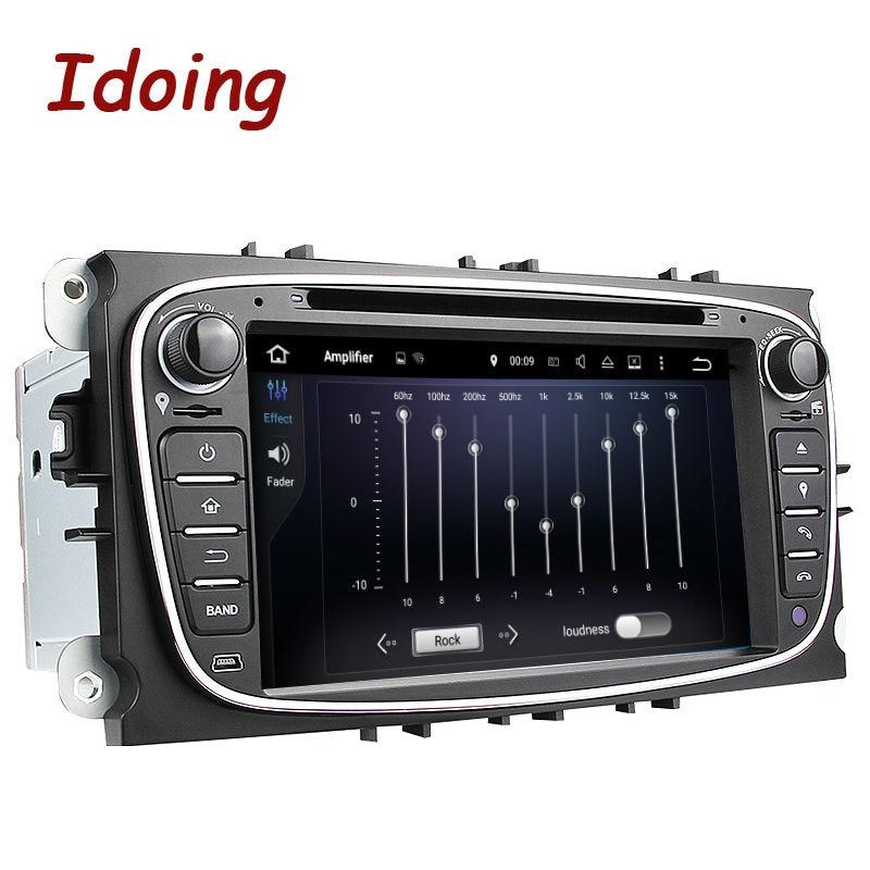 Imaking volant 2Din pour Ford Focus Mondeo s-max Android 7.1 lecteur vidéo multimédia DVD de voiture Quad Core périphérique stéréo WIFI