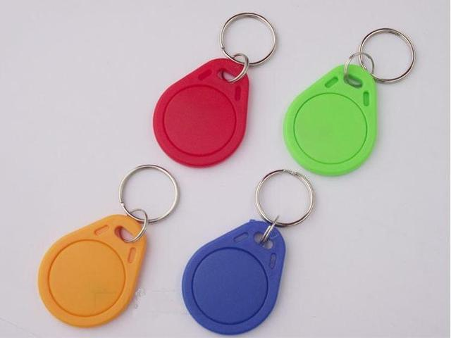 No. 3; 100pcs 125Khz RFID Proximity Keyfobs Ring Access Control Card Rfid Red Yellow Blue Tags