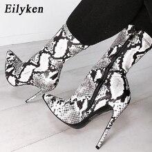519dea24 Eilyken botas con cremallera para mujer, botas con estampado de serpiente, tacones  altos,