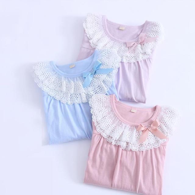 Cotton  Nightgowns For Kids Kid Girl Spring and autumn nightwear super good quality sleepwear children  8107