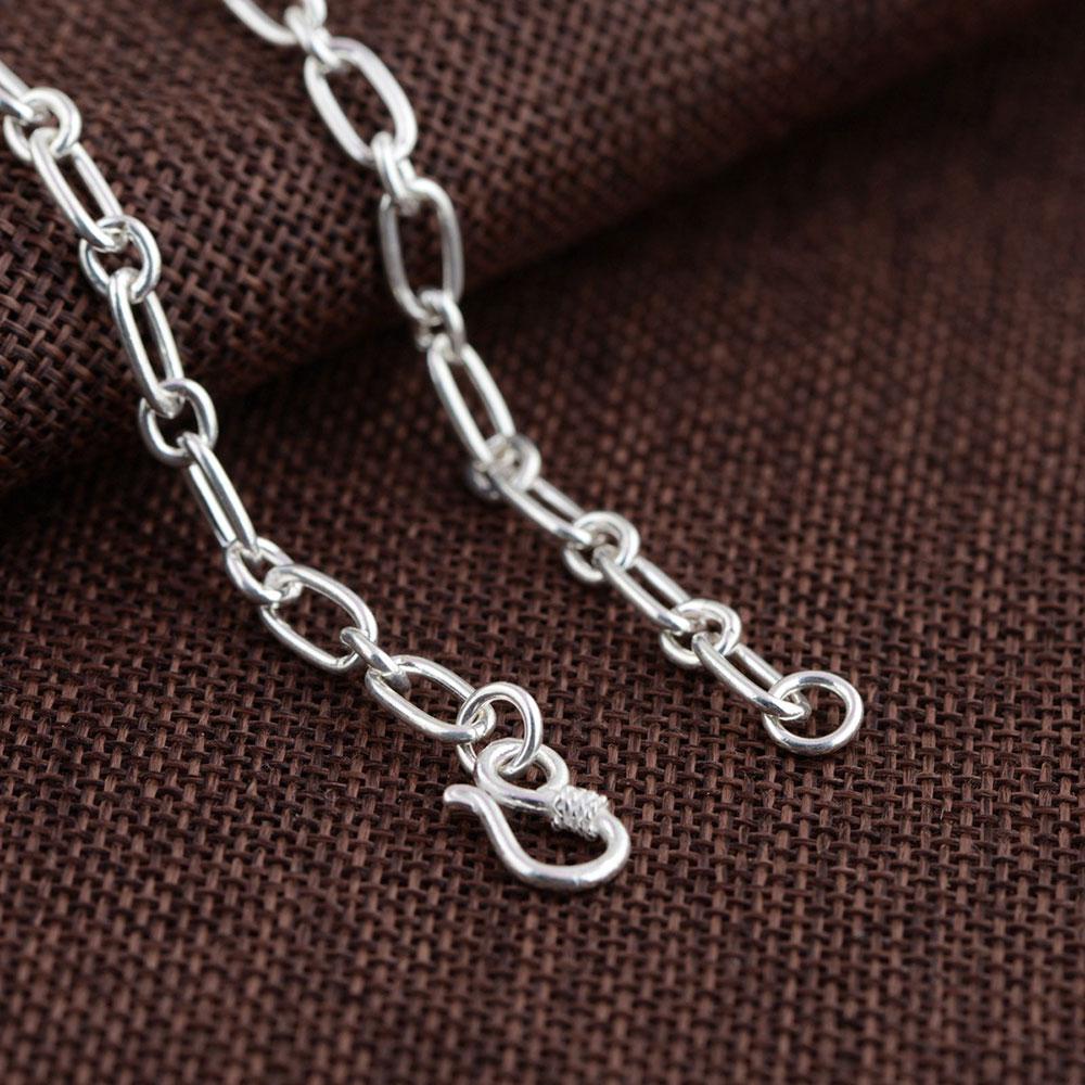 925 chaîne à maillons en argent collier pour femmes accessoires largeur 5mm 50 cm à 80 cm S925 Thai solide argent fabrication de bijoux colliers