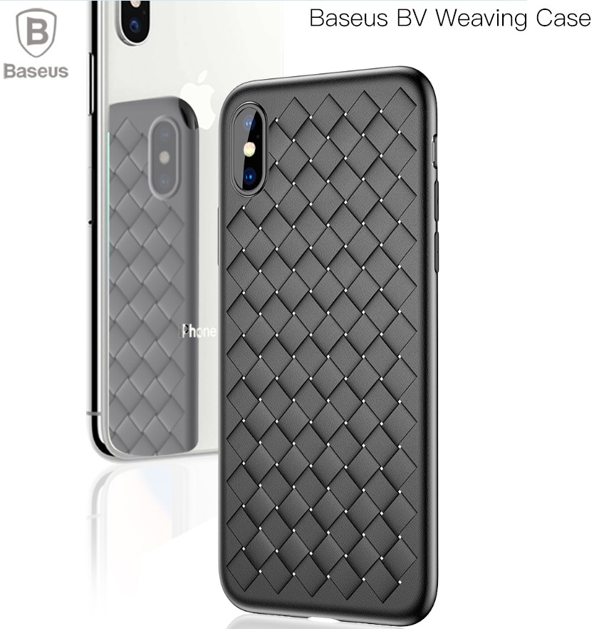 buy popular e0a94 c5197 US $10.89 |BASEUS Brand Simple Artistic Case For iPhone X Stylish BV  Weaving High Elastic TPU Back Cases For iPhone 8 7 7 Plus / 8 Plus-in ...