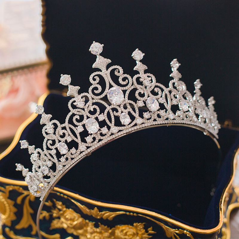 Micro Inlays Cubic Zirconia Tiara Crown Vintage Queen Headband Hair Jewelry Bridal Wedding Headdress Women Headpiece Ornaments цена 2017