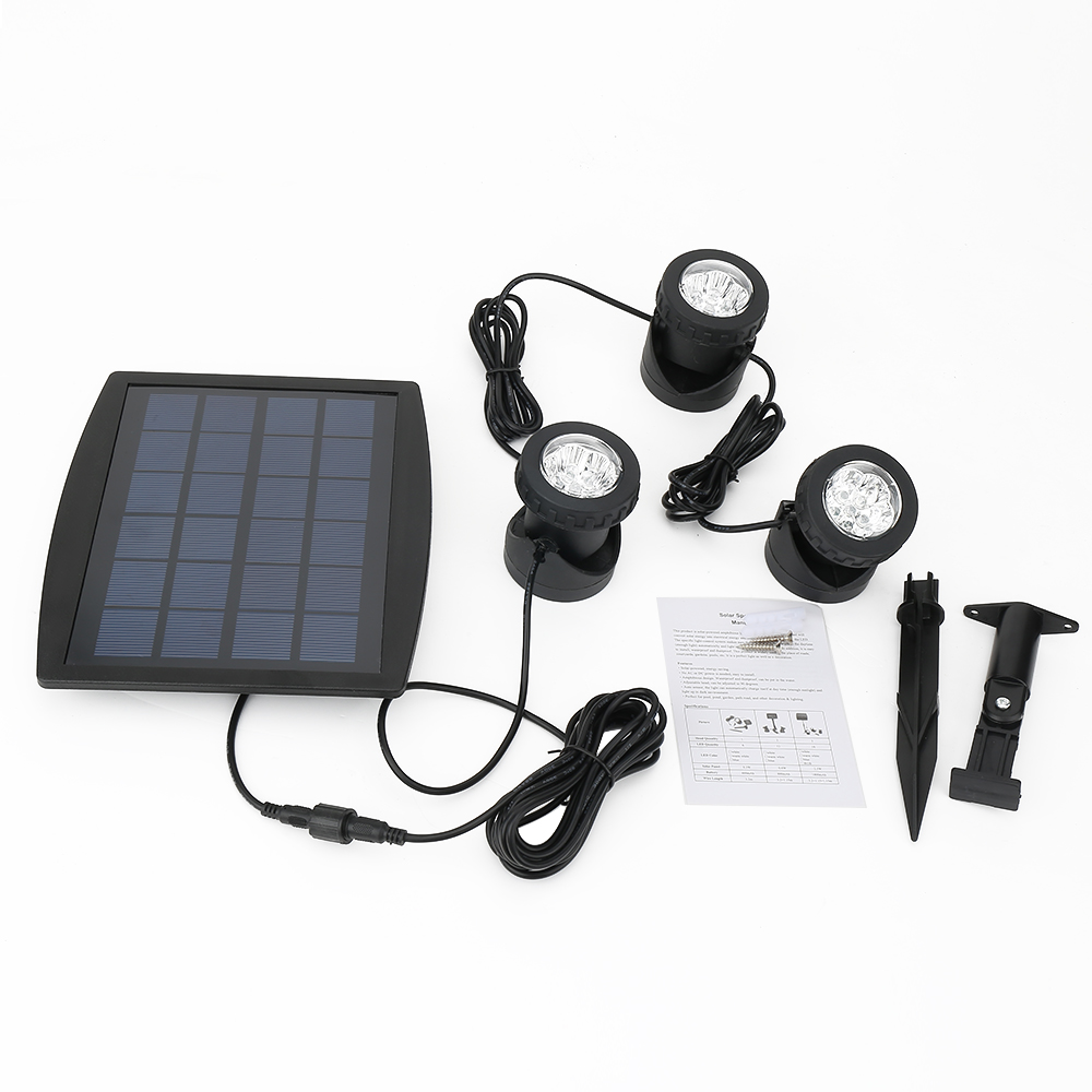 Portable LED Outdoor Solar Powered Spotlight RGB/Cold White Waterproof IP68 Led Landscape Light Solar Garden Lamp yj 2338w 3w 350lm 6000k 60 led white light solar powered spotlight white 3 7v