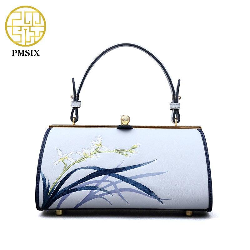 Pmsix 2018 модные сумки через плечо одного плеча дамы разделение кожа сумки для женщин сумка светло голубой
