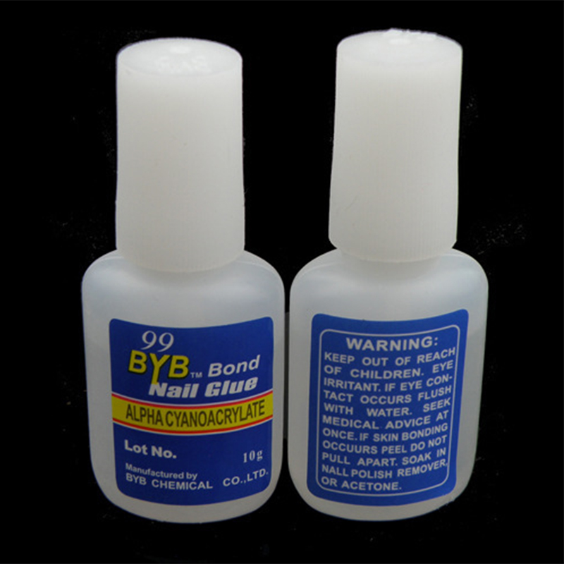 1 Pcs 10g BYB False Nail Tip Nail Glue With Brush Excellent Nail Gel Glue For Acrylic Tip Nail Art New Quality stylish 24 pcs smile expression pattern nail art false nails page 1