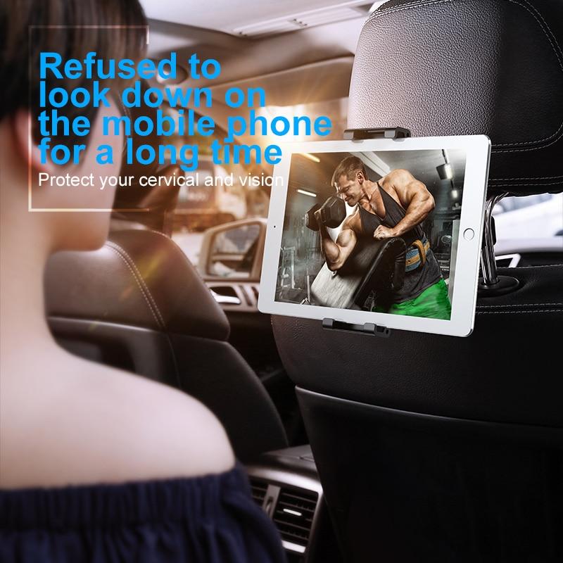 Baseus voltar assento montar tablet titular do carro para ipad ar mini pro 2018 2020 11 12.9 10.2 banco de trás suporte do telefone carro para iphone 5