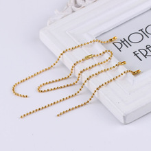 Tangsanjiang@ Golden Bead Chain of Dentification tag Connect Chain with Label Pendant Chain Bead Diameter 2.4mm festive christmas ornament hearts shape bead chain 260cm 2 chain pack