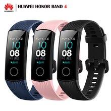 Nouveau Huawei Honor Band 4 Bracelet intelligent Amoled couleur 0.95 «écran tactile moniteur de sommeil moniteur de natation Fitness Bracelet