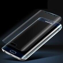 Sıcak Satış! Crystal Clear 3D Kavisli Ekran Kalkan Filmi için Samsung Galaxy S7 Kenar Arka (tamperli cam)