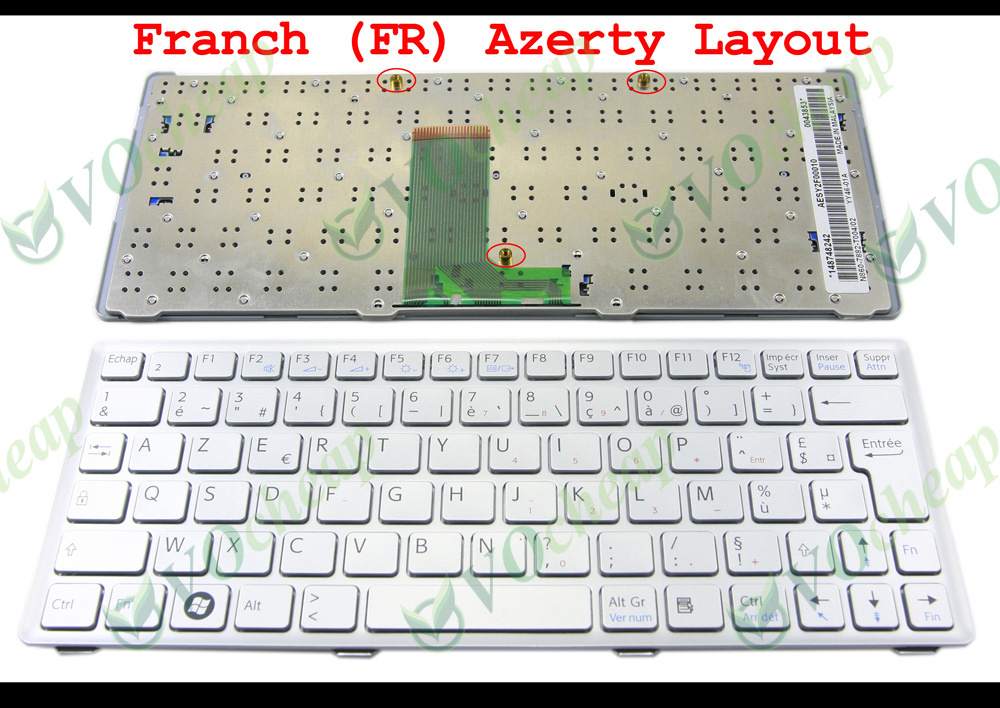 New notebook  Laptop keyboard for sony Vaio VPC-W VPC W 148751322 FR / french  layout for sony vpceh35yc b vpceh35yc p vpceh35yc w laptop keyboard