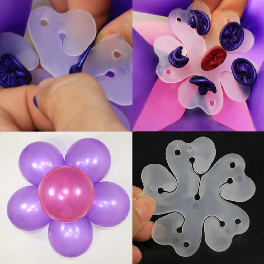 Clips de plástico para Globos, 10 piezas, pegamento de espuma, decoración para fiesta de cumpleaños o boda, Clips para soporte de Globos para niños, accesorios para Año Nuevo