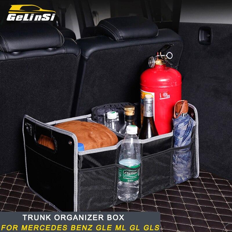 Gelinsi pour Mercedes Benz voiture boîte organisateur noir grande capacité sac de rangement pliant coffre rangement et rangement