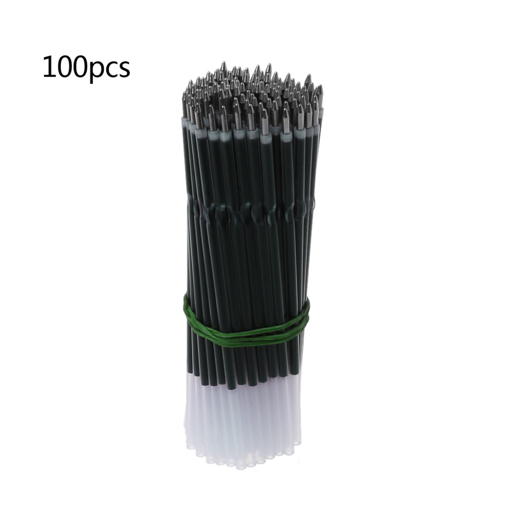 100Pcs 0.7mm Ballpoint Pen Refill Black Blue Red Stationery School Office Supply