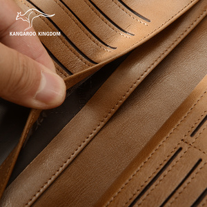 Image 3 - Роскошные винтажные мужские кошельки KANGAROO KINGDOM из натуральной кожи, брендовый мужской повседневный клатч, кошелек