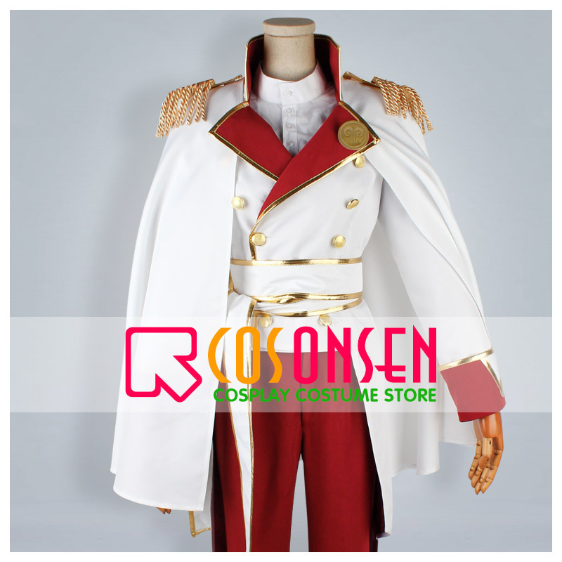 COSPLAYONSEN Wand of Fortune Alvaro Garay White Uniform Cosplay Costume All Size Custom Made