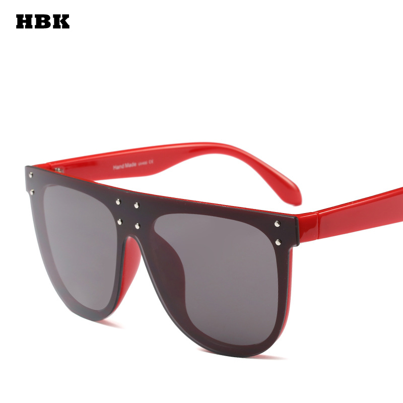 HBK Fashion Luxury 2018 Spring Oversized Women Sunglasses Men Unisex Alloy Frame UV400 Goggle Black Hot Sale Cat Eye Brand New