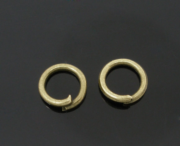 Alloy Opened Jump Rings Round Antique Bronze 6mm( 2/8) Dia, 400 PCs newAlloy Opened Jump Rings Round Antique Bronze 6mm( 2/8) Dia, 400 PCs new