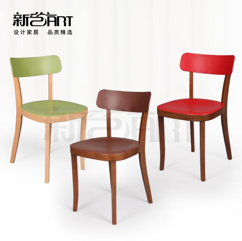Value Cafe Chairs Minimalist Modern Beech Wood Chair IKEA
