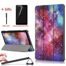 Funda Kılıf Için Lenovo Tab M10 10.1 inç Tablet Kapak Için Lenovo Tab M10 TB X605F TB X605L Kılıf PU Deri + sert telefon kılıfı Kapak