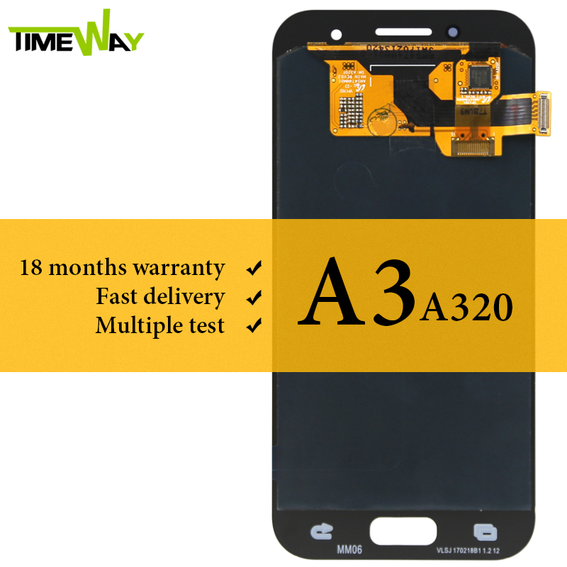 <font><b>LCD</b></font> Display For Samsung A3 2017 <font><b>A320</b></font> <font><b>LCD</b></font> With Touch Screen Digitizer Assembly Replacement For Samsung Screen AMOLED image