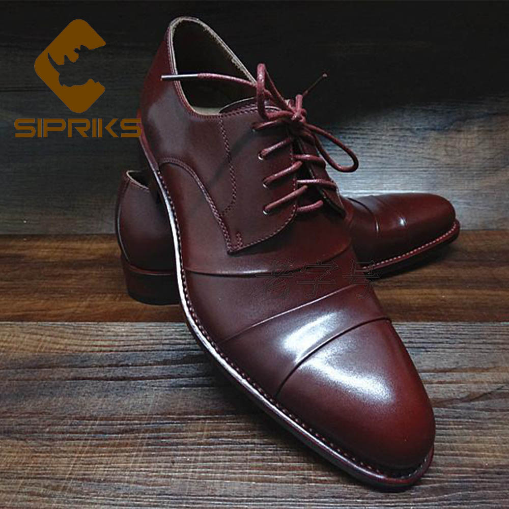 Formal Shoes Shoes Flight Tracker Sipriks Mens Red Calf Leather Brogue Shoes Imported Italy Handmade Goodyear Welted Shoes Classic Vintage Black Footwear Shoes 44