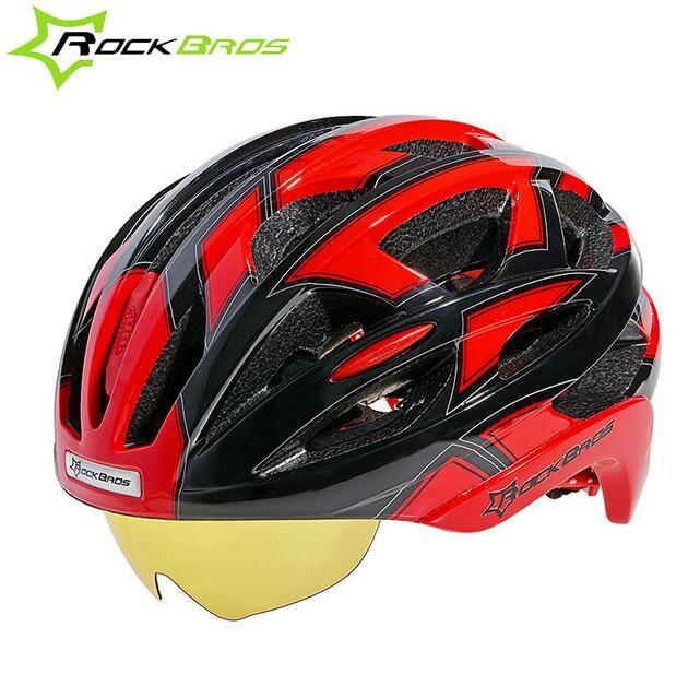 Prix pour RockBros Vélo Casque de Vélo EPS + PC Matériel Ultra-Léger Montagne Casque De Vélo 32 Air Vents Avec 3 Lentilles TAILLE: 56-62 cm
