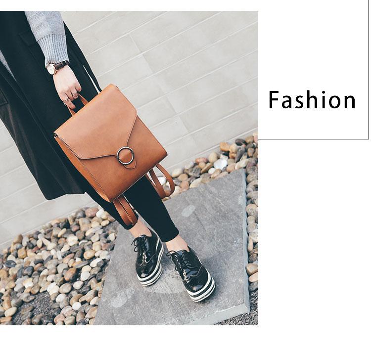 Retro Women's Rucksack Bag 19
