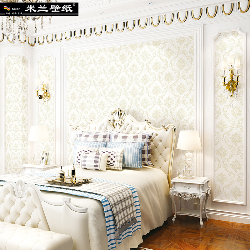 MILAN 2018 New Fashion WallPaper European Rural Style Beautiful Leaf Home Decor 3d Wall Paper Roll for Bedroom or Living Room 3d european style home decor wall sticker