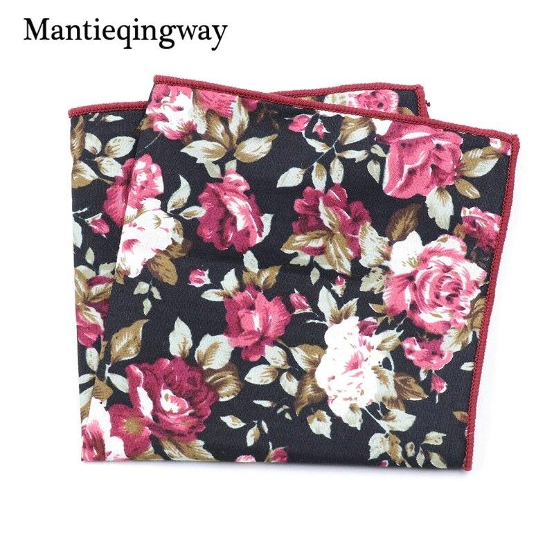 Mantieqingway Chest Towel For Men's Suits Cotton Handkerchiefs Printing Pocket Square Hankies Mens Business Square Pockets Hanky