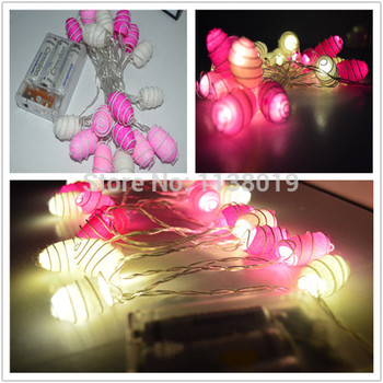 Battery powered Pink tone cocoon ball LED string Fairy lights,home, bedroom, handmade,wedding,Christ