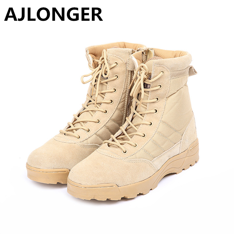 Mens Winter Leather Boot Men Outdoor Waterproof Rubber Dersert boots Leisure Martin Boots England Retro shoes for Man