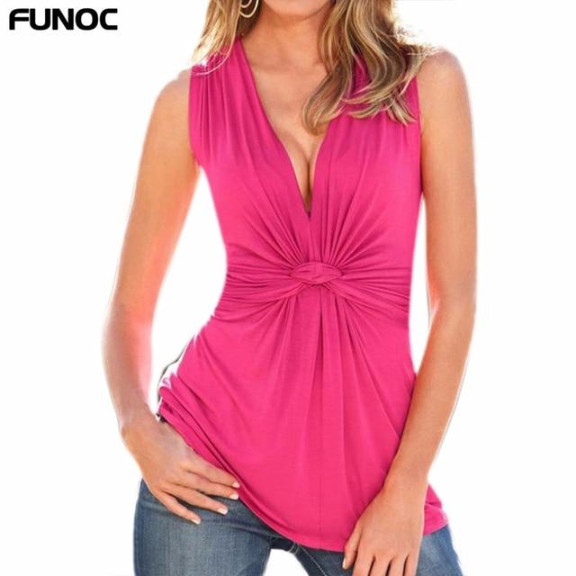 FUNOC-Mode-Femmes-Blouse-D-t-Sans-Manches-Coude-Pliss-Blouses-Tops-Mince-de-Haute- Taille.jpg 640x640.jpg e80472f8752