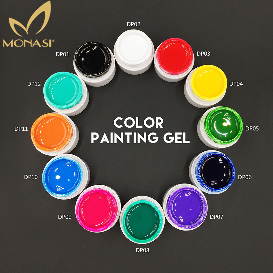 MONASI 3D Nail Art Draw Soak Off Painting Acrylic UV Gel