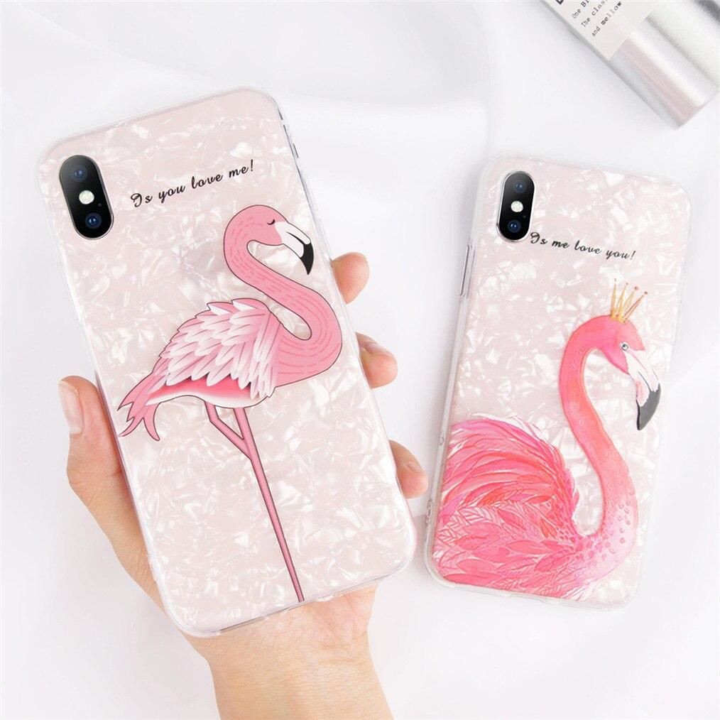 cover iphone 7 flamingo