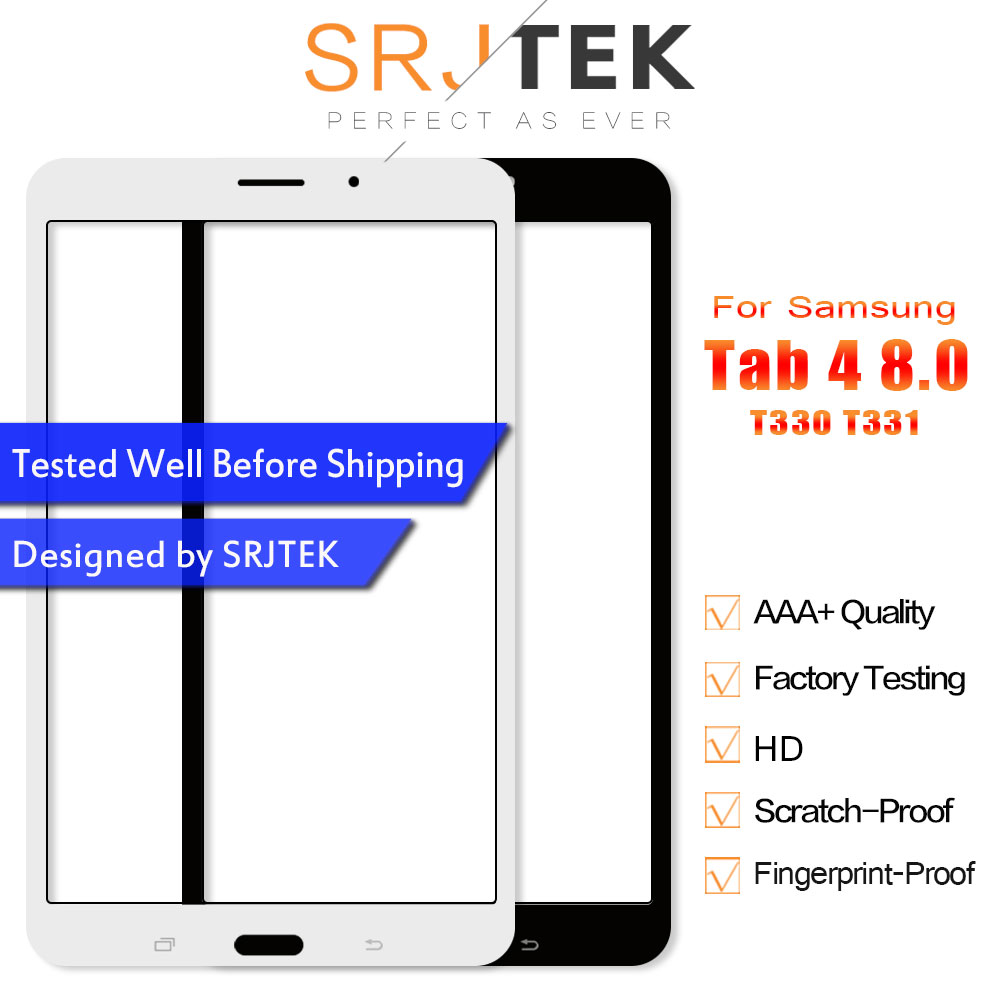 SRJTEK Touch Screen SM-T330 SM-T331 For Samsung Galaxy Tab 4 8.0 T331 T335 T330 Digitizer Sensor Panel Tablet Parts 3G & Wifi