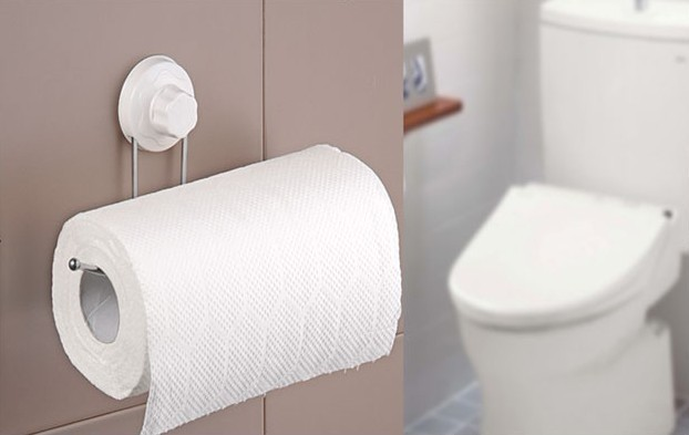 suction toilet paper holder wall roll holder tissue bathroom accessories