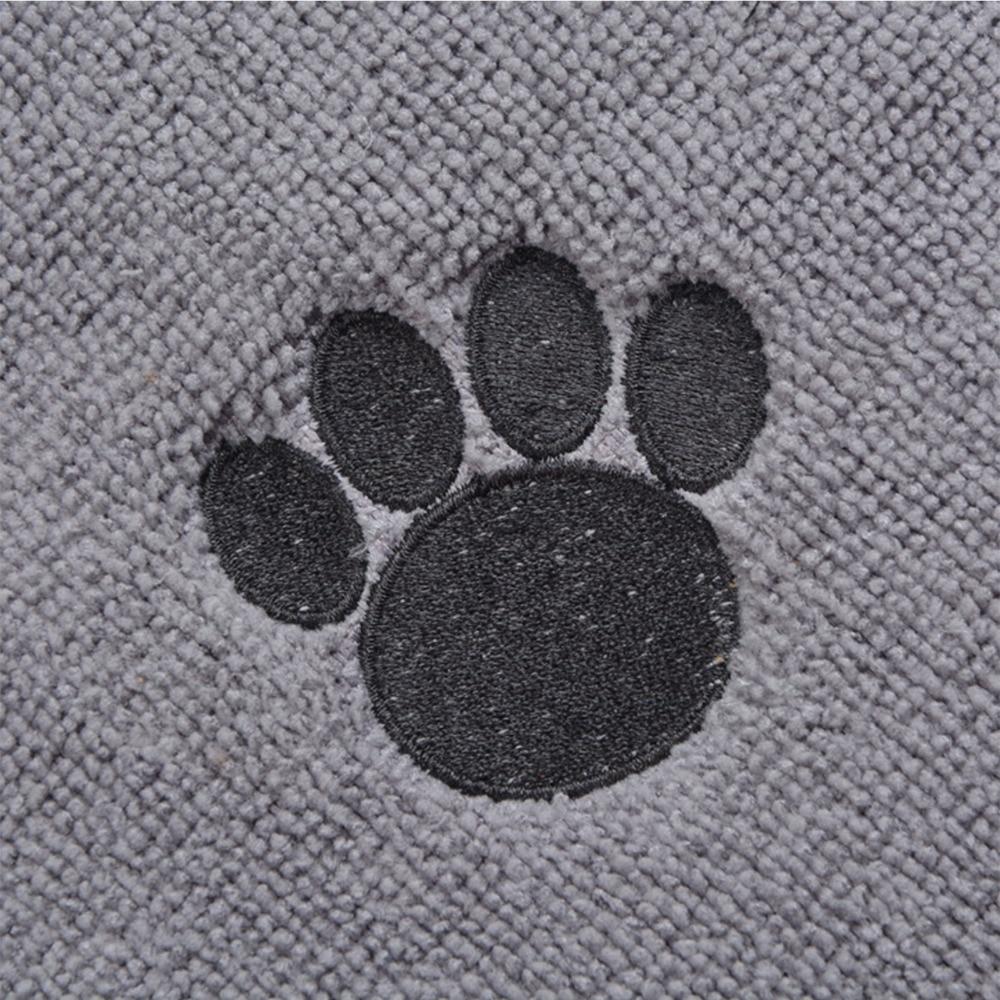 Sinland Microfiber Mat Pet Dog Cat Makanan Mat dengan Paw Imprint - Produk hewan peliharaan - Foto 4