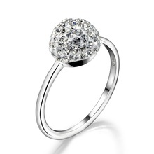 цена Dormith 925 sterling silver grey czech crystal fashion tail rings for women jewelry 7#8#available онлайн в 2017 году