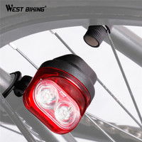 WEST BIKING Cycling Taillights Magnetic Induction Riding Warning Tail Light Waterproof Road MTB Bike Flashlight Bicycle