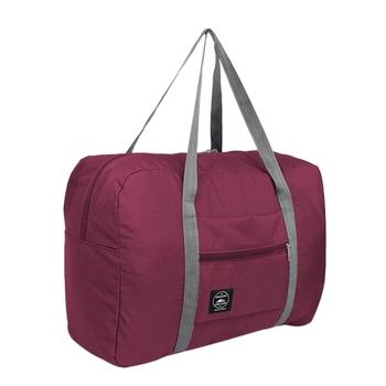 FGGS-wielofunkcyjna duża pojemność na co dzień składania wodoodporne etykiety na walizki torby do przechowywania walizki etui podróżne torebka organizator dużego ciężaru tanie i dobre opinie WOVELOT CN (pochodzenie) POLIESTER Versatile 32cm torby podróżne 48cm zipper Torebka podróżna 110g SOFT Polyester 16cm