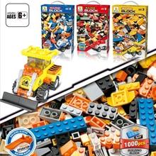 1000PCS DIY Building Blocks Sets City Creative Racing Car Figures Compatible Bricks  Educational Assemble Toys for Children