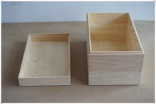 Wood storage box home decoration rectangle nature box with lip gift box