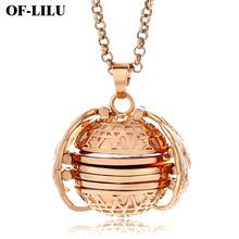 New Angel Wings Magic 4 Photo Memory Floating Locket Necklace & Pendant Copper material Fashion Album Box Necklaces diy Jewelry